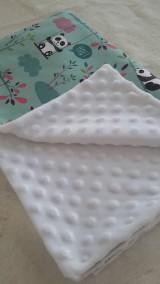 Textil - Detská deka s minky - pandičky - 10841965_