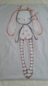 Textil - Detská deka s minky - zasnená zajačica - 10842005_