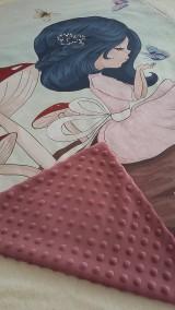 Textil - Detská deka s minky - dievčatko - 10842025_