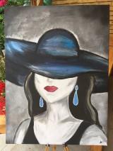 Obrazy - Obraz Dáma v klobúku - 10840606_