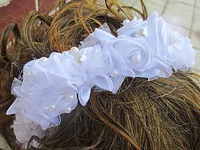 Ozdoby do vlasov - kvetinová čelenka - 10842682_