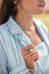 Kabáty - Pruhované sako bledomodré (38 modrá) - 10842052_