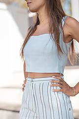 Nohavice - Pruhované šortky (40 fialová) - 10843320_