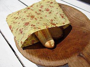Úžitkový textil - desiatové voskované vrecko -ruža - 10842093_