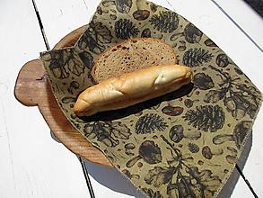 Úžitkový textil - lesný voskovaný obrúsok - 10842142_