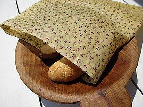 Úžitkový textil - veľké voskované vrecko-šípová ruža - 10842329_