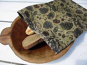 Úžitkový textil - veľké voskované vrecko-lesné - 10842391_
