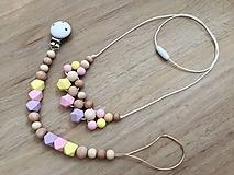 Detské doplnky - Set retiazka na cumlík + náhrdelník