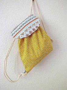 Detské tašky - Detský ruksak mini - žltý Indián - 10843315_