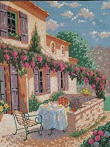 Dekorácie - Vyšívaný obraz:Letné popoludnie - 10840696_