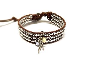 Náramky - Dámsky náramok BRYXI zo strieborných sklenených kryštálov - 10842474_