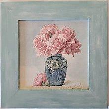 Obrázky - Obrázok - Kytica ruží vo váze - 10842854_