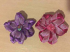 Materiál ručne robený - Kvety s ozdobou - 10841591_