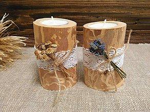 Svietidlá a sviečky - Brezové svietniky - 10843169_