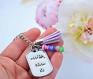 Kľúčenky - Kľúčenka so strapcom - 10841926_
