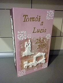 Krabičky - Svadobna drevena krabica - 10841999_