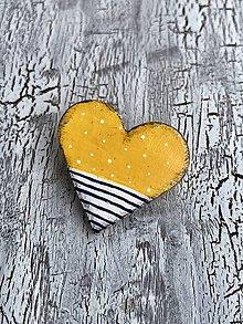 Odznaky/Brošne - námornícke retro v žltej - brošňa (brošňa) - 10841482_