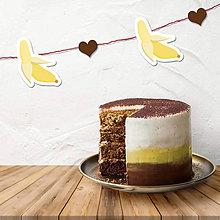 Tabuľky - Ovocná girlanda (banánová) - 10842365_