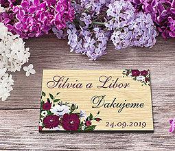 Darčeky pre svadobčanov - Svadobná magnetka - 10844964_