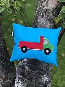 Textil - s nákladiakom - vankúšik - 10845851_