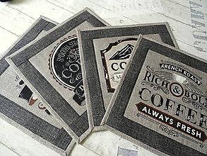Úžitkový textil - Coffee  No.3 ... prestieranie 4 ks - 10844265_