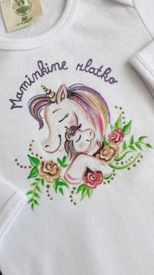 Detské oblečenie - maľované body jednorožec - 10844903_