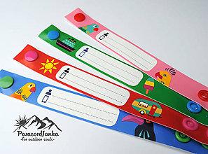Detské doplnky - Identifikačné náramky pre deti - 10844238_