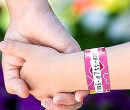 Detské doplnky - Identifikačné náramky pre deti 2 - 10844240_