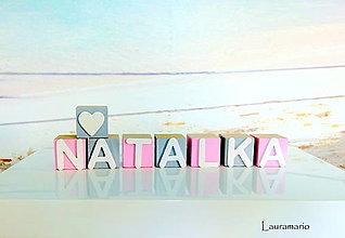 Hračky - Kocky Natalka - 10845724_