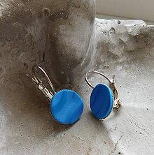 Náušnice - náušničky vlnky modré (Modrá) - 10845752_
