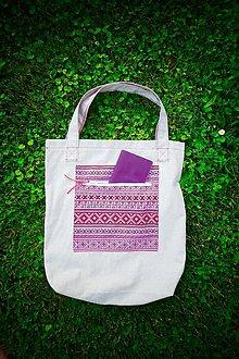 Nákupné tašky - Folk taška - 10844985_