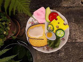 Hračky - Obložený chlebík z filcu - 10844302_