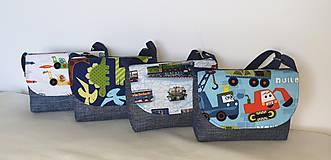 Detské tašky - Taška pre chlapcov (Vláčiky) - 10843738_