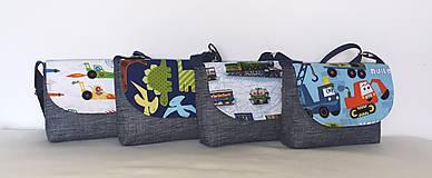 Detské tašky - Taška pre chlapcov (Vláčiky) - 10843739_