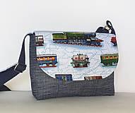 Detské tašky - Taška pre chlapcov (Vláčiky) - 10843757_
