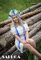 Modrá kvetinová parta - folklórna