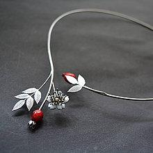 Náhrdelníky - Náhrdelník PET šípková ruža - 10843619_
