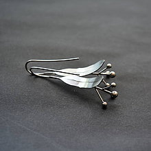 Náušnice - Nerezové náušnice lipový kvet - 10843669_