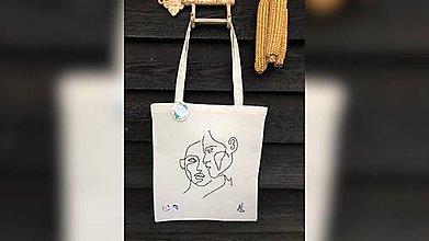 Iné tašky - ♥ Plátená, ručne ručne vyšívaná taška ♥ (XY6) - 10843773_