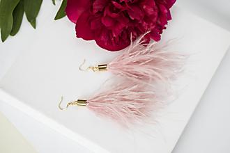 Náušnice - Pierkové náušnice - pastelová ružová - 10844202_