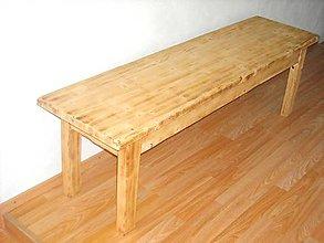 Nábytok - Drevená lavica - 10843555_