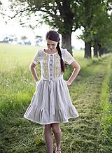 Šaty - ľanové šaty Dorka - 10845730_