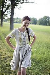 Šaty - ľanové šaty Dorka - 10845743_