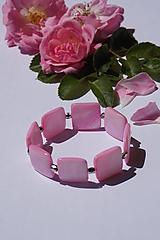 Náramky - Perleťové štvorce ružové - 10845429_