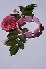 Náramky - Perleťové štvorce ružové - 10845439_