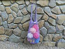 Melírovaná háčkovaná sieťovka - fialová