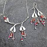 - Kvietky ružové - náhrdelník - 10845144_