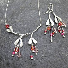 Náhrdelníky - Kvietky ružové - náhrdelník - 10845144_