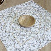 Úžitkový textil - BLANKA-drobné natur ružičky - obrus štvorec - 10843428_