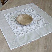 Úžitkový textil - BLANKA-drobné natur ružičky - obrus štvorec 60x60 - 10843509_